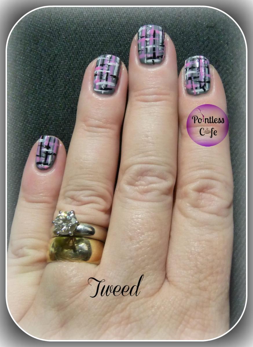 Tweed Nail Art Pointless Cafe