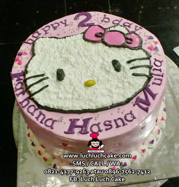 Kue tart Hello Kitty Buttercream