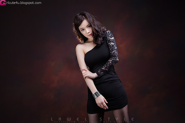 6 Im Ji Hye in Black-very cute asian girl-girlcute4u.blogspot.com