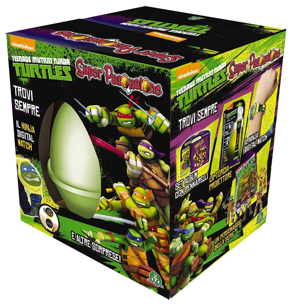 Super Pasqualone Tartarughe Ninja Turtles 2015 boy Uovo a sorpresa Giocattoli Giochi Preziosi prezzo
