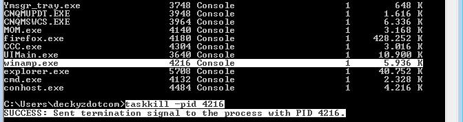 Cara menghentikan proses aplikasi menggunakan command prompt