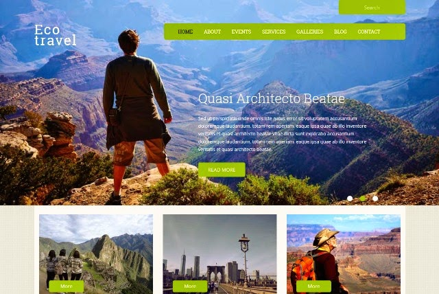 Eco Travel - Responsive Travel Guide web template