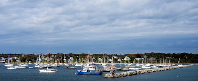 The view of Vineyard Haven's harbor from the Martha's Vineyard ferry