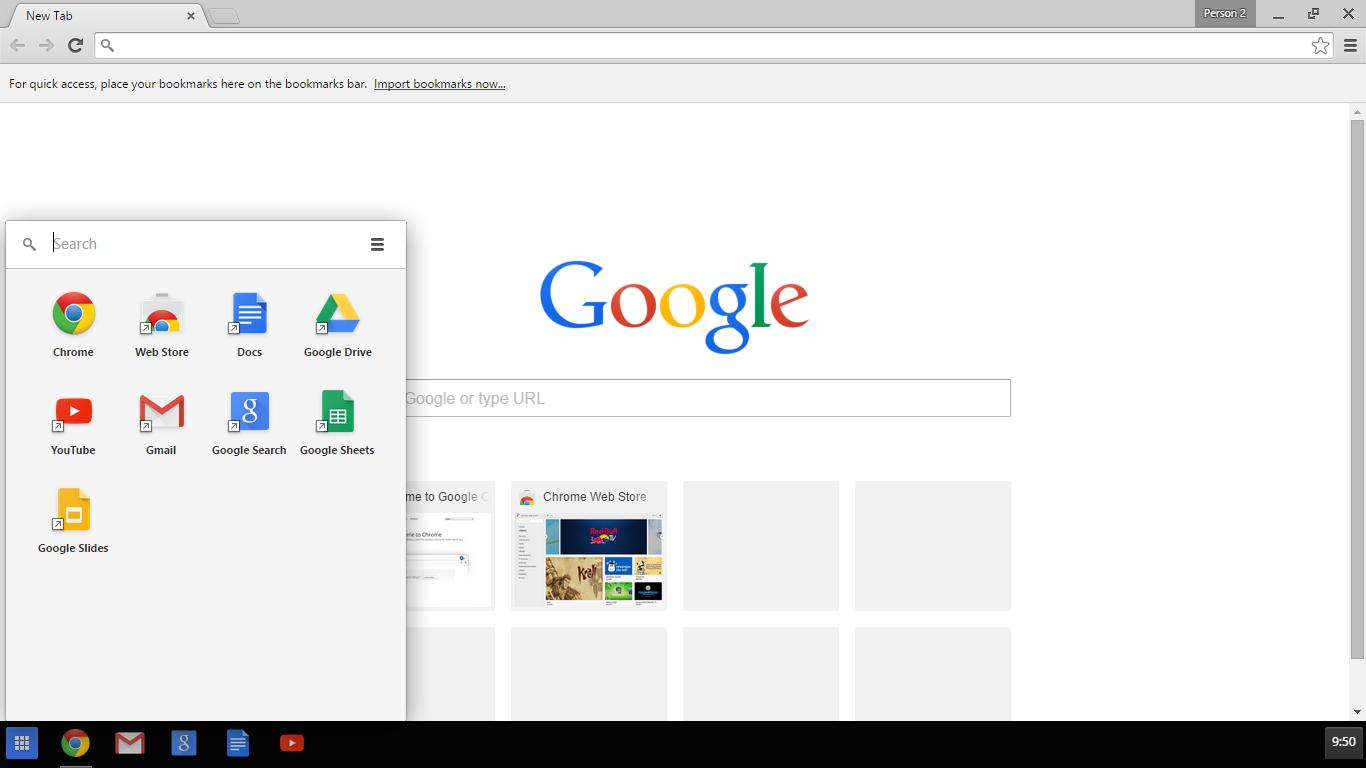 Chrome Windows 8 Mode