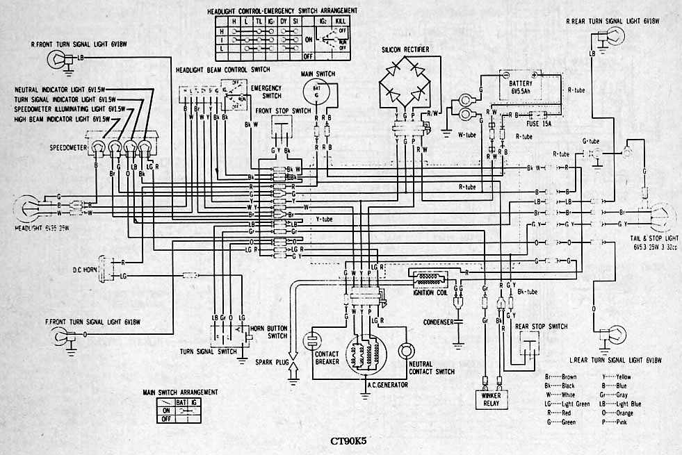 1968 Honda 90 Wiring Diagram