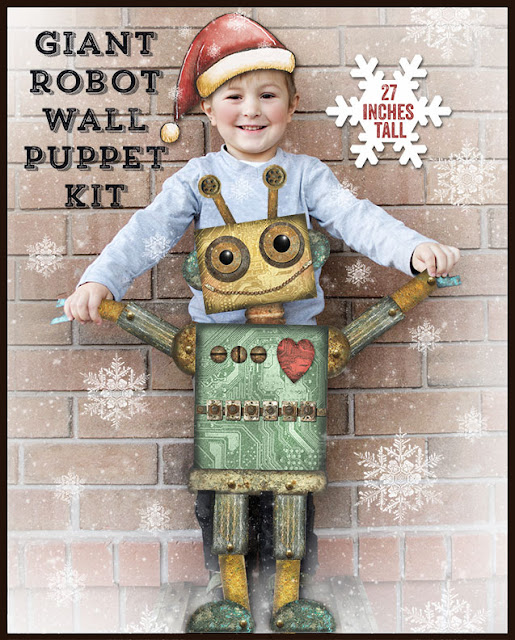 Large Robot Wall Puppet Kit - Robin Davis Studio