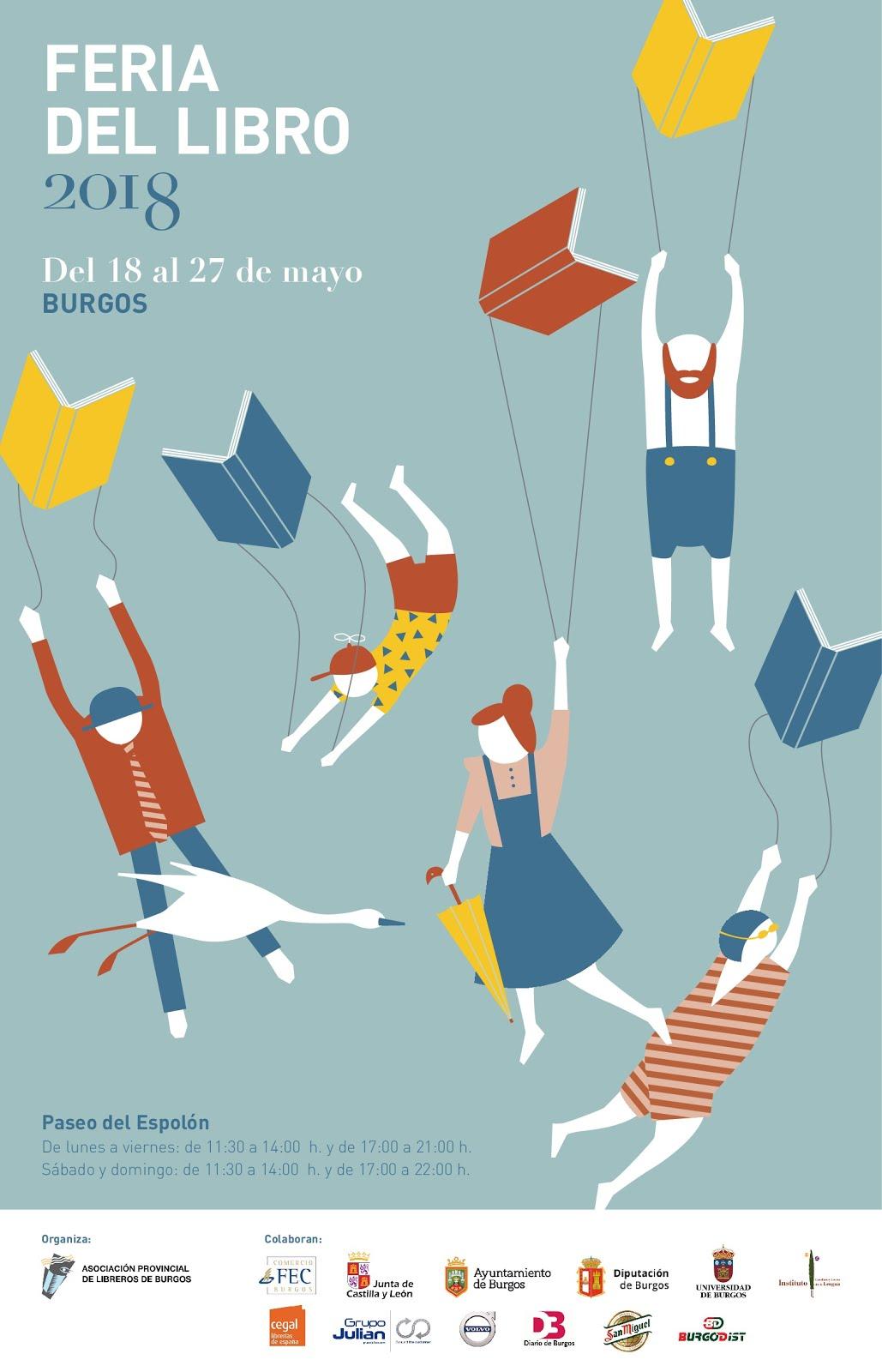 Desde hace años colaboro con la Feria del Libro de Burgos