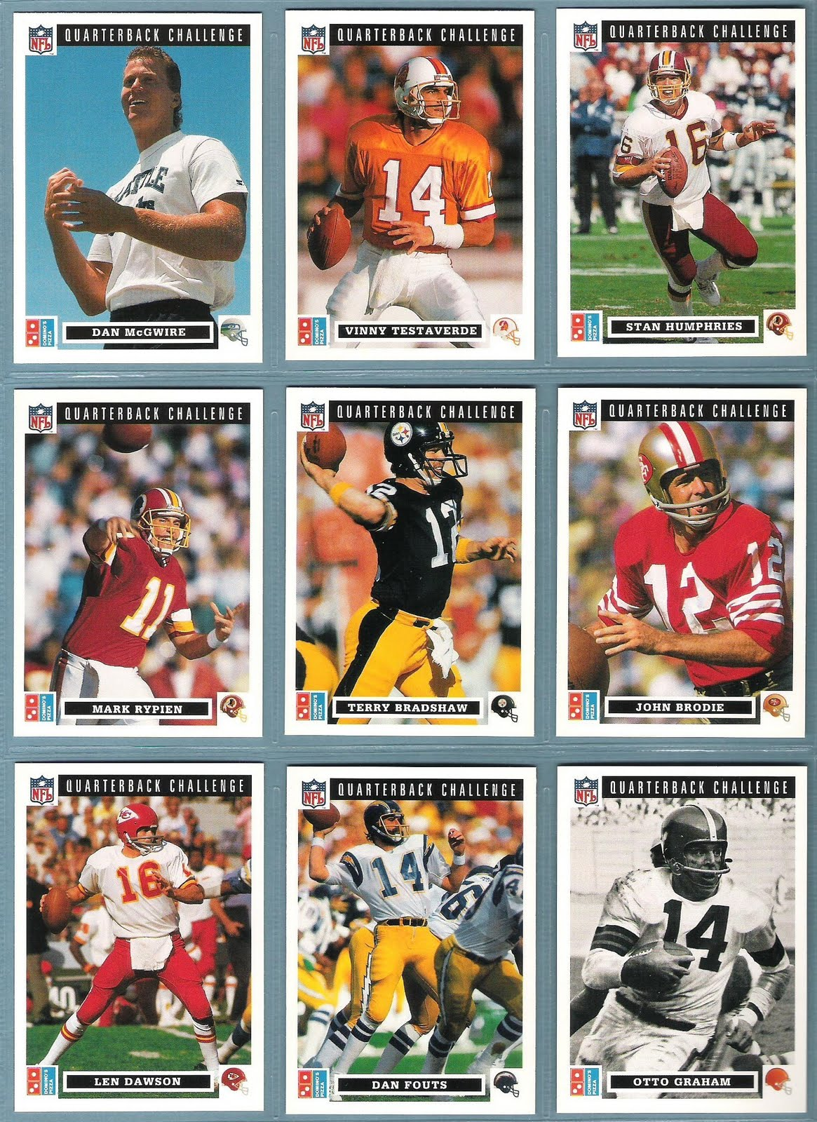 the fleer sticker project football u0026 pizza the 1991 domino u0027s