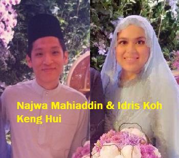 Najwa Mahiaddin dan Idris Koh Keng Hui