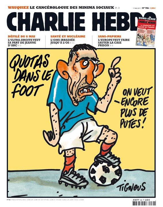 Les quotas dans le foot selon Charlie Hebdo