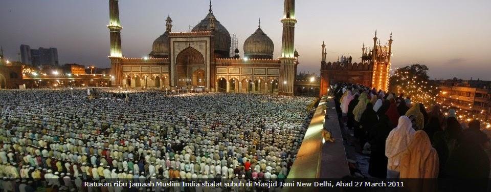 Indahnya Solat Subuh di Masjid Akbar New Delhi