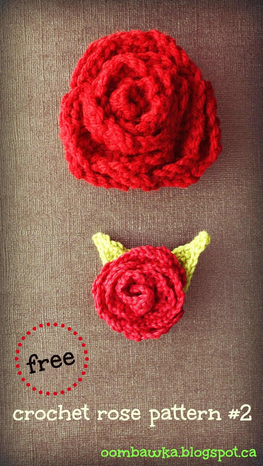 Crochet Patterns Roses Free : Oombawka Design *Crochet*: Free Crochet Pattern - Rose Brooch with ...