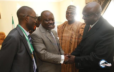 NMAN1 Delegation of Nigeria Medical Association visits Gov. Uduaghan
