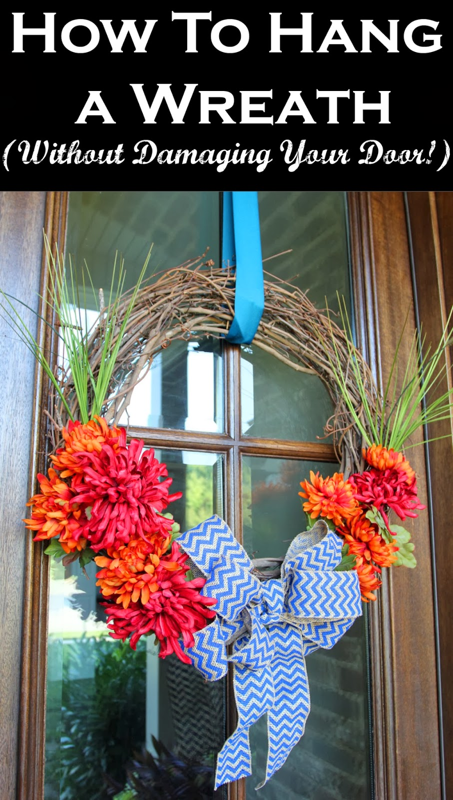 Charmant How To Hang A Wreath (Without Damaging Your Door)