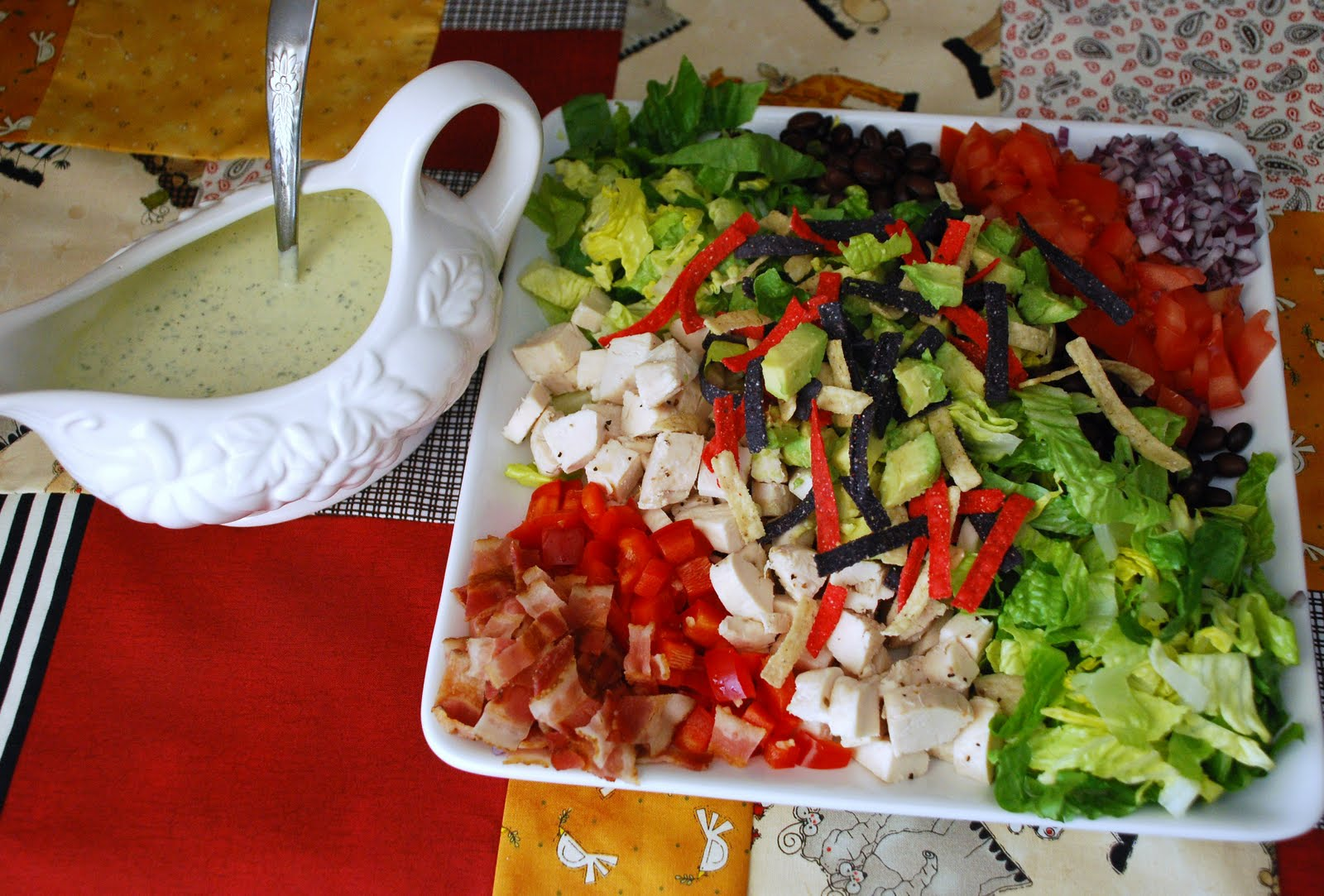 Everyday Insanity...: Southwestern Cobb Salad with Chili Lime Dressing