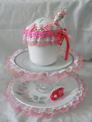 Side View One of the Pink Owl Little Girls Lazy Susan