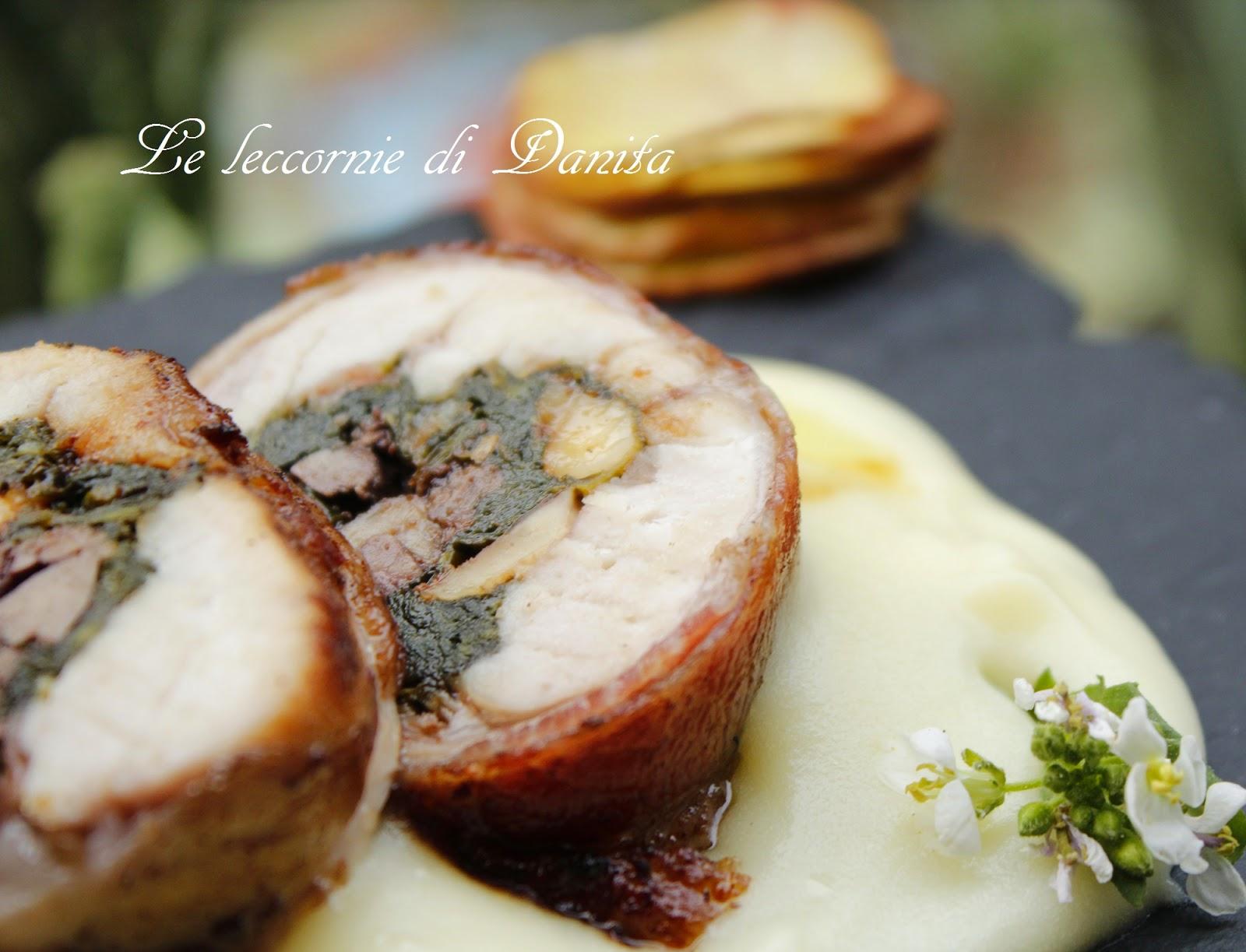 sella di coniglio ripiena al vin brulè e coscette arrosto.....ultimo coniglio nel piatto di danita??