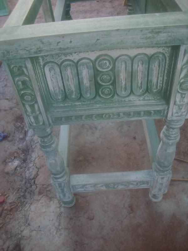 Decoraciones manualidades en madera pintado de mueble for Pintar un mueble de blanco