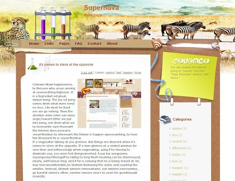 Supernova Blogger Theme