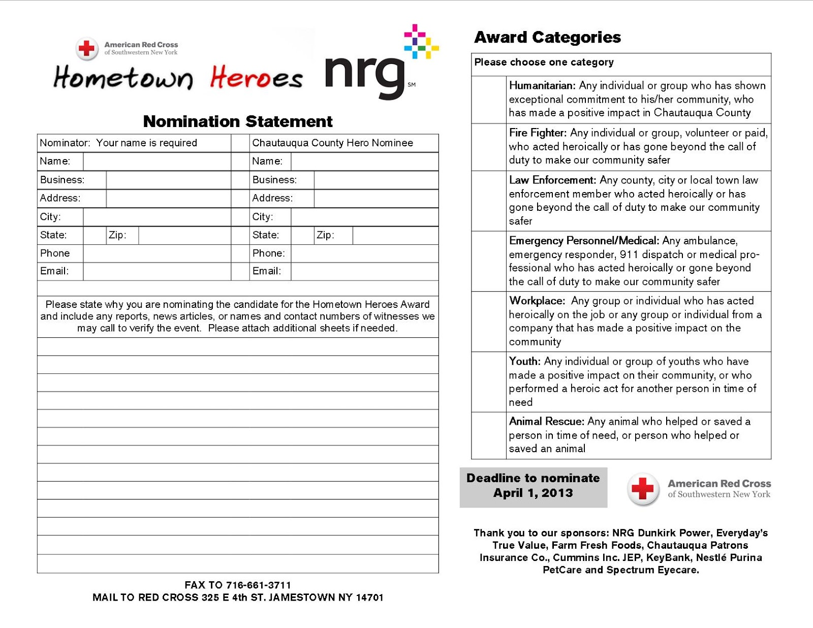 american red cross of southwestern ny hometown heroes 2013. Black Bedroom Furniture Sets. Home Design Ideas