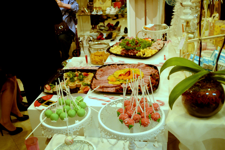 food platters at My Bestfriend's Closet Holiday Event