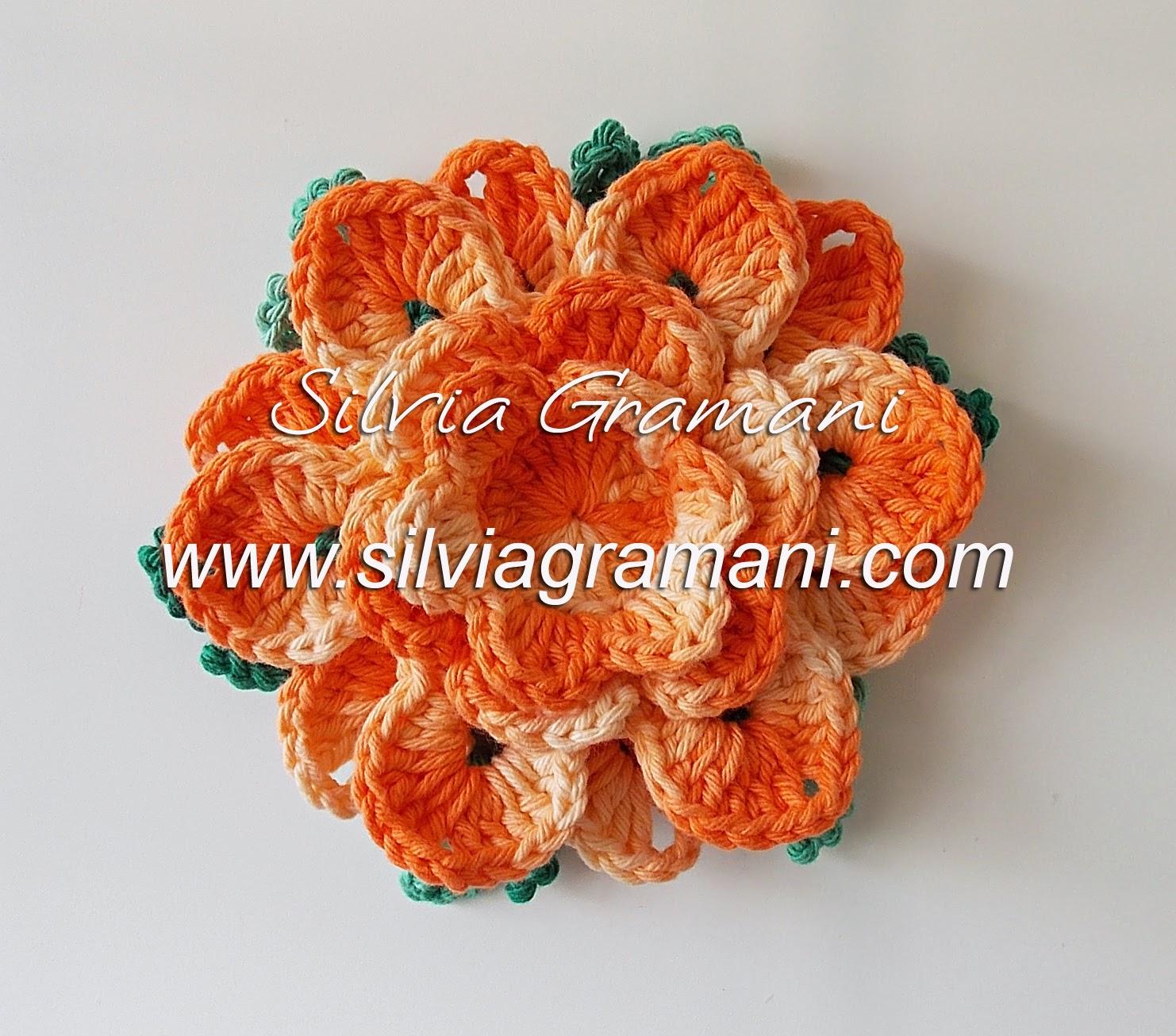 Flor de Crochê em Barbante