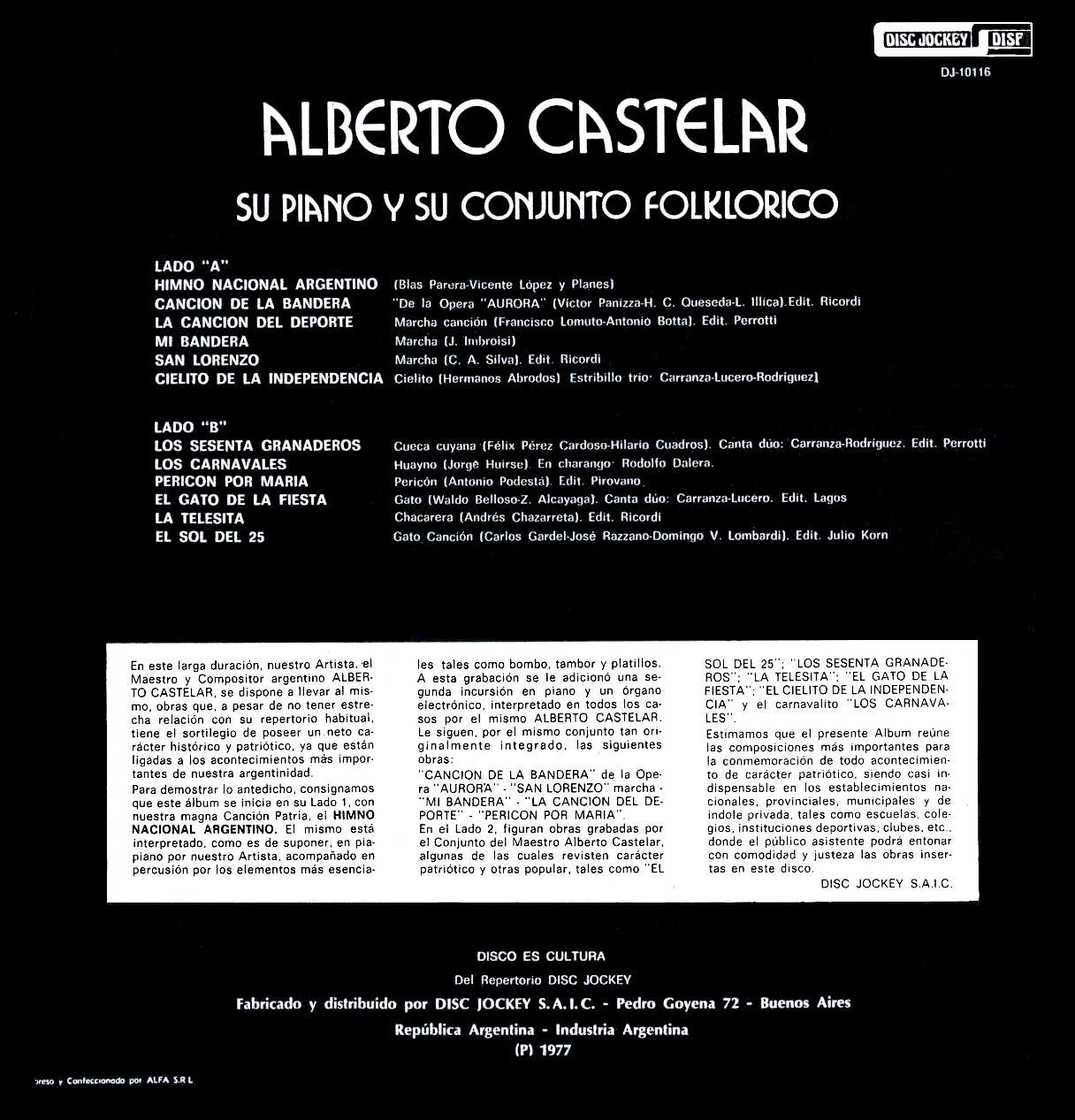 Alberto Castelar - Y Nuestras Danzas - Alberto Castelar And Argentine Folk Dances