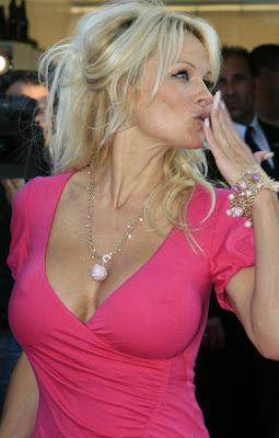 Pamela Anderson Gold Bracelet and Pendant