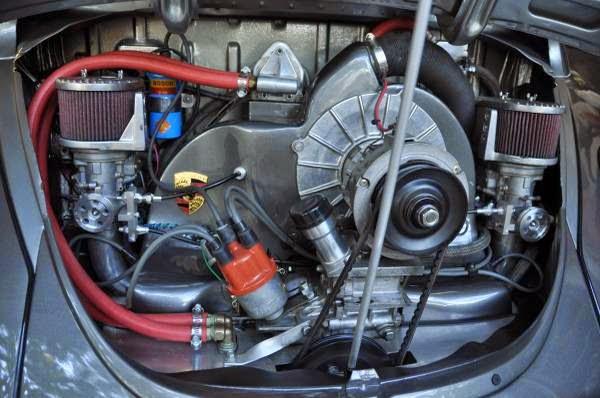 custom vw beetle ragtop porsche powered