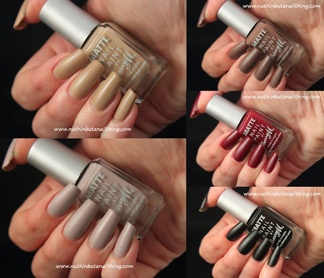 Barry M Matte Nail Paint - Full Collection Swatches