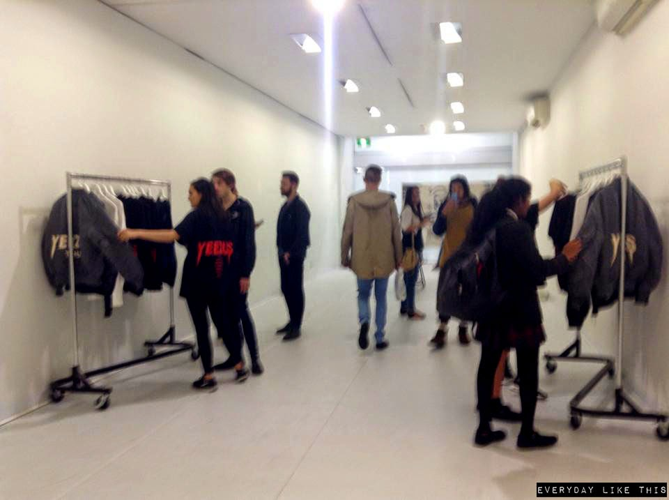YEEZUS Pop Up Store Melbourne australia kimye kanye west