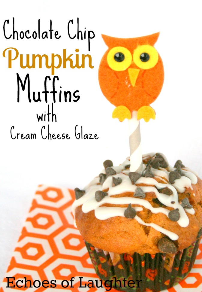 ... Laughter: Chocolate Chip Pumpkin Muffins with Chream Cheese Glaze