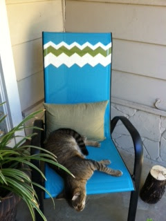 Target and Missoni inspired DIY chair