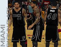 NBA 2K13 Miami Heat Back in Black Jersey Patch