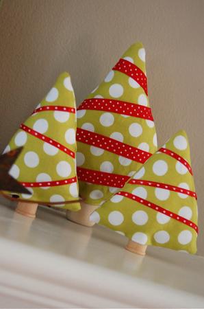 Arboles de navidad con tela costura facil - Arbol navidad tela ...