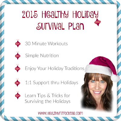 2015 Healthy Holiday Survival Plan, Julie Little Fitness, www.HealthyFitFocused.com