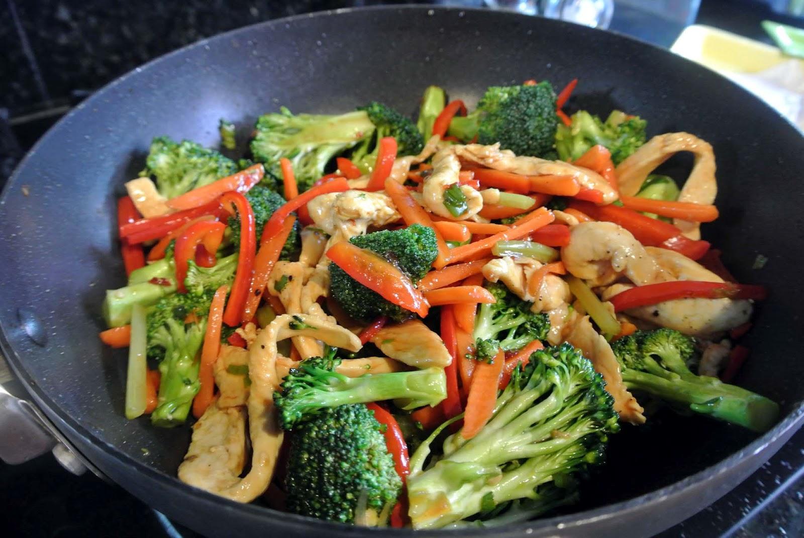 stir fry stir fried chicken with bok choy thai chicken with basil stir ...