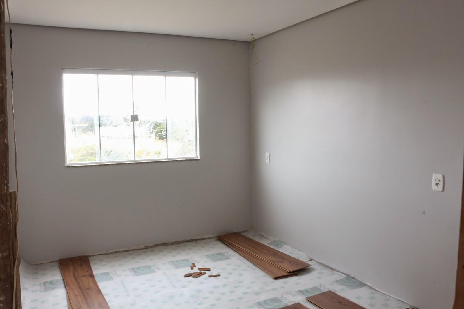 Meu Palácio de 64m² Pintura do apê, cor escolhida para as  ~ Quarto Pintado Branco Gelo
