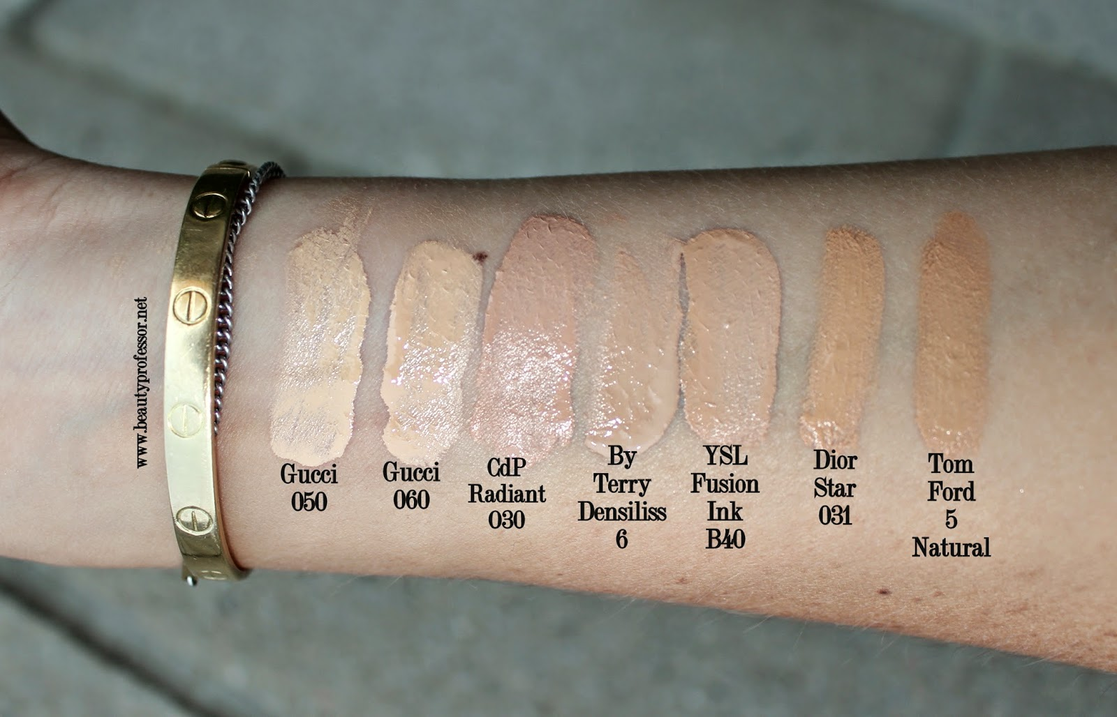 gucci foundation swatches