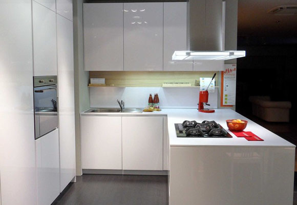 Dise o de cocinas peque as kansei cocinas servicio for Cocina 3 metros pared