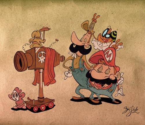 mario bros cartoon wallpaper