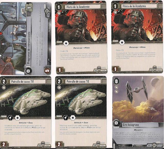 Expansión Star Wars LCG: Ciclo Escuadrón Pícaro - Maniobras evasivas Programas de entrenamiento