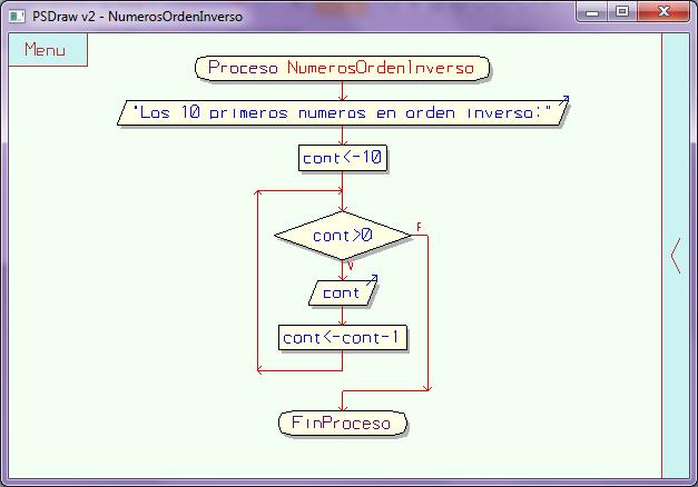 Imprimir 10 numero en orden inverso diagrama de flujos de escribir los 10 primeros numeros en orden inverso cont 10 mientras cont 0 hacer escribir cont cont cont 1 finmientras finproceso ccuart Gallery
