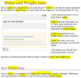 keyword stuffing in weight loss article