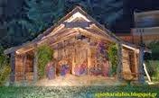 Εντυπωσιακή και η φετινή κατασκευή Φάτνης που στολίζει το προαύλιο του Ναού μας