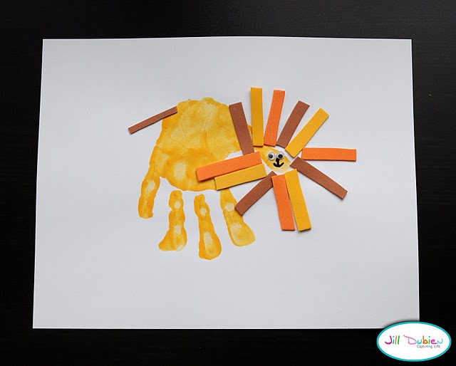 Free Worksheets pre school work : A few of my favorite things: fun hand print art work for preschool