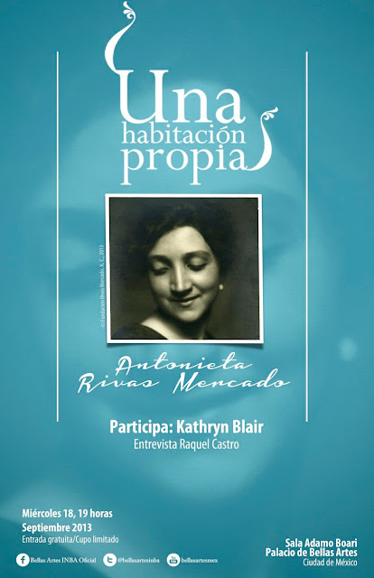 """El ciclo """"Una habitación propia"""" presenta a Antonieta Rivas Mercado"""