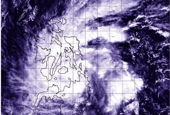 Imágen Satélite Aqua de la NASA de la tormenta tropical Jangmi el 29 de diciembre