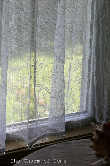 Starfish Tier Lace Curtain:The Charm of Home