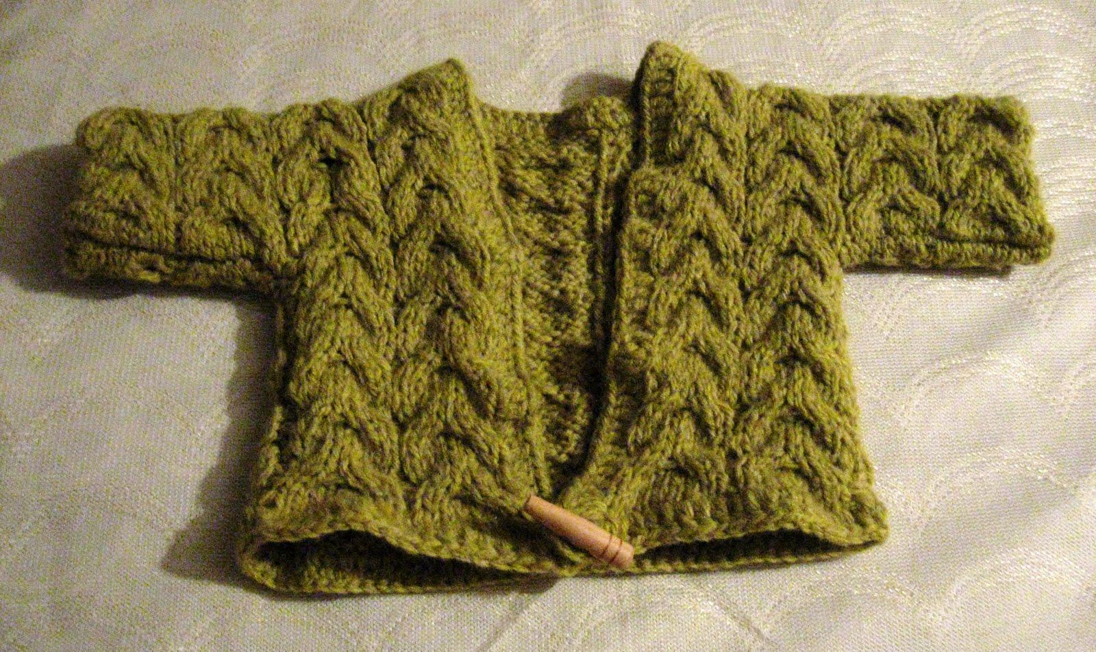 Chaleco verde agua tejido a palitos para niños (CHAVde) Bolero verde